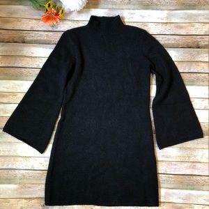 NWOT Bardot black long bell sleeve sweater dress